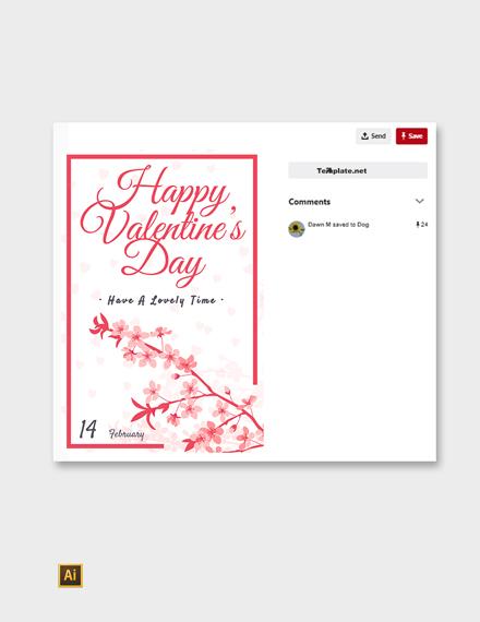 Free Valentine's Day Pinterest Post