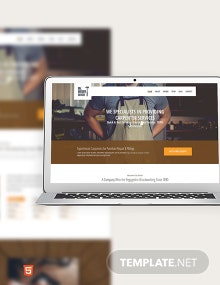 Carpenter Bootstrap Landing Page Template