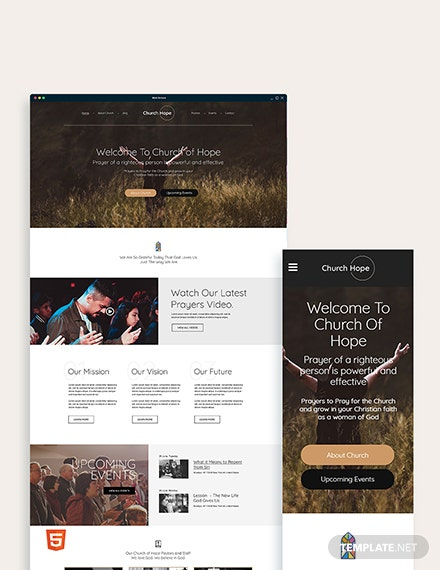 Church Bootstrap Landing Page Template