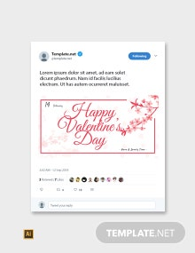Free Valentine's Day Twitter Cover and Post