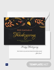 Free Business Thanksgiving Greeting Card