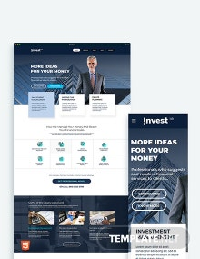 Financial Advisor Bootstrap Landing Page Template