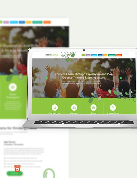 Kindergarten Bootstrap Landing Page Template