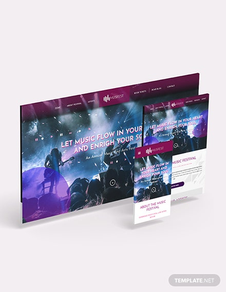 Music Festival Bootstrap Landing Page Download