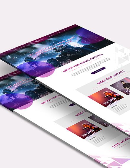 Sample Music Festival Bootstrap Landing Page