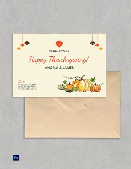 Free Editable Thanksgiving Greeting Card