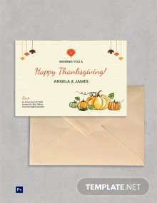 Free Editable Thanksgiving Greeting Card