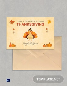 Free Simple Thanksgiving Greeting Card