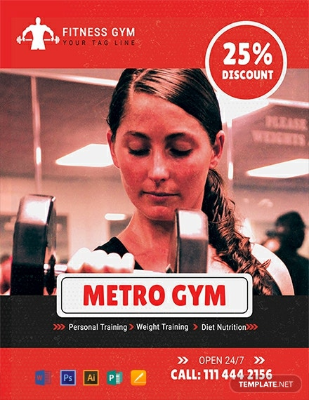 Free Gym Promotion Flyer Template