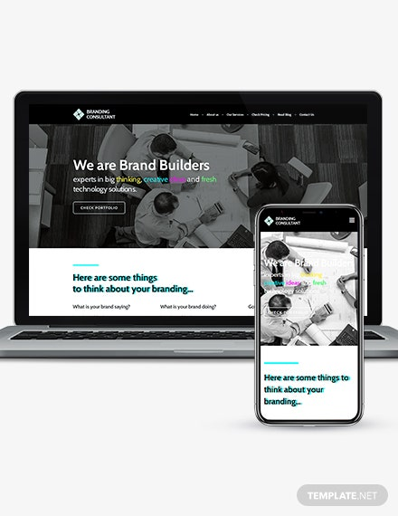 Branding Consultant WordPress Theme Template Download