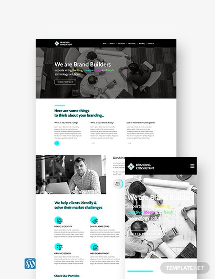 Branding Consultant WordPress Theme/Template