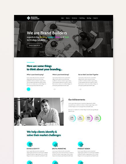Sample Branding Consultant WordPress Theme Template