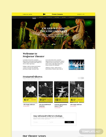 Sample Theater WordPress Theme Template