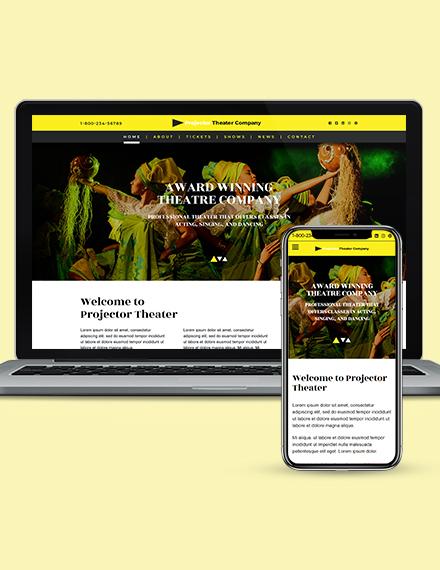 Theater WordPress Theme Template  Download