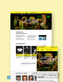 Theater WordPress Theme/Template