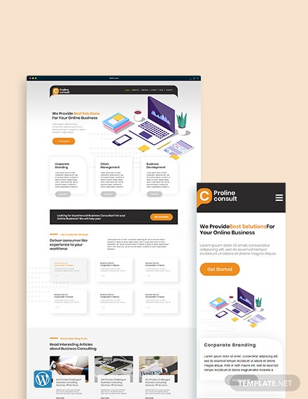 Business Consultant WordPress Theme/Template