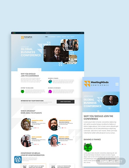 Conference WordPress Theme/Template