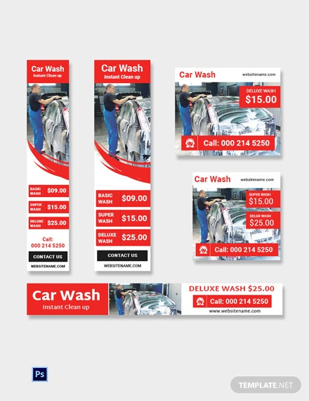 Car Wash Ad Banner Template