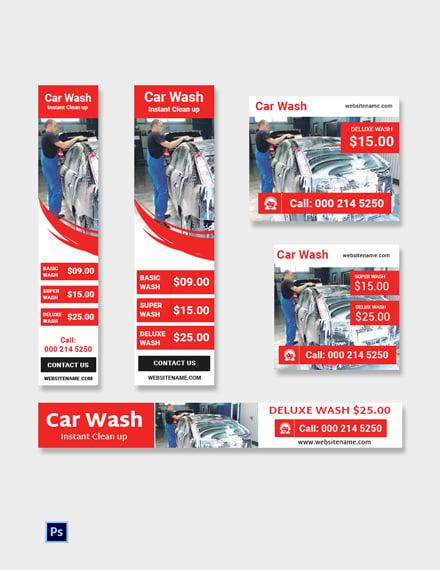 Car Wash Ad Banner Template