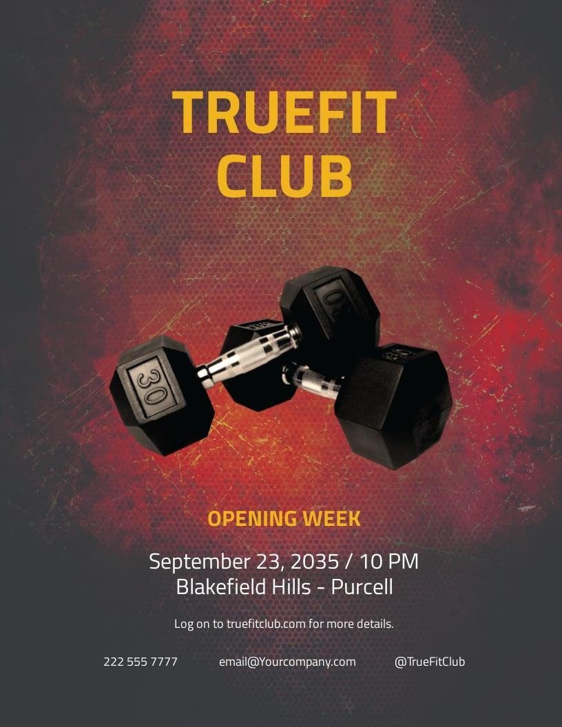 Free Body Fitness Club Flyer Template.jpe
