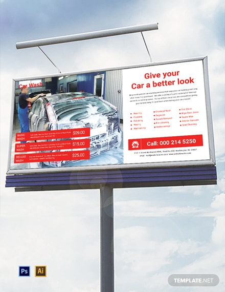 Car Wash Service Billboard