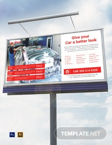 Car Wash Service Billboard Template