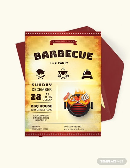 Awesome BBQ Party Invitation Download