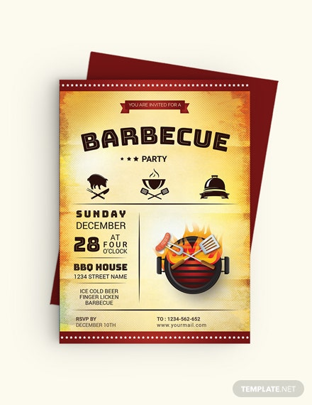 Sample Awesome BBQ Party Invitation Template