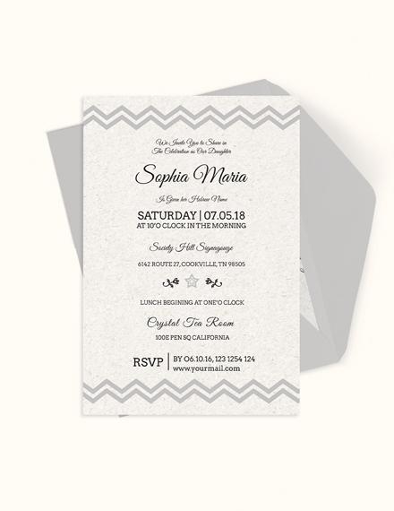 Born Naming Ceremony Invitation Template Download