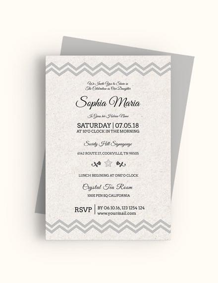 Sample Born Naming Ceremony Invitation Template