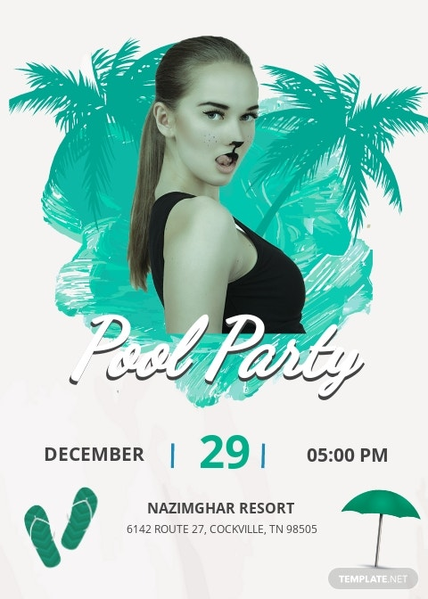 Cool Pool Party Invitation Template.jpe