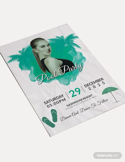 Sample Cool Pool Party Invitation Template