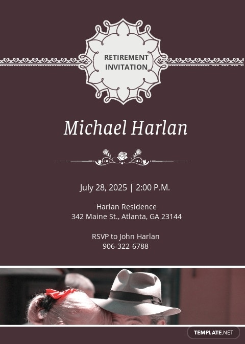 Delighted Retirement Party Invitation Template