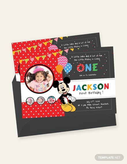 Exciting Mickey Mouse Birthday Invitation Template Download