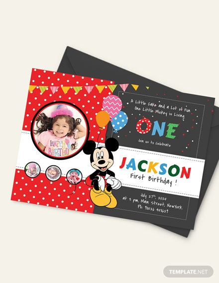 Sample Exciting Mickey Mouse Birthday Invitation Template