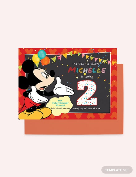 Sample Great Mickey Mouse Birthday Invitation Template