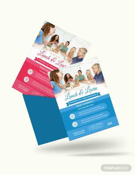Learn  Lunch Invitation Template Download