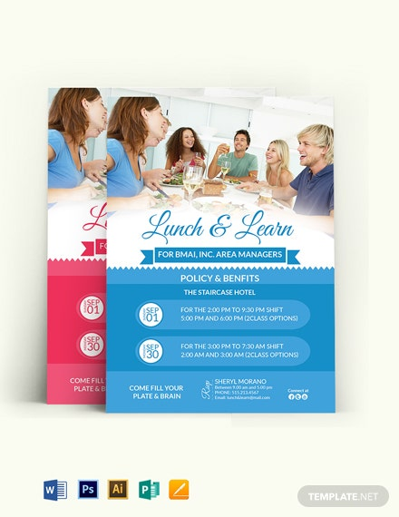Learn & Lunch Invitation Template