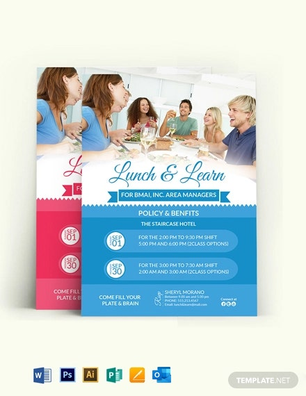 Learn  Lunch Invitation Template