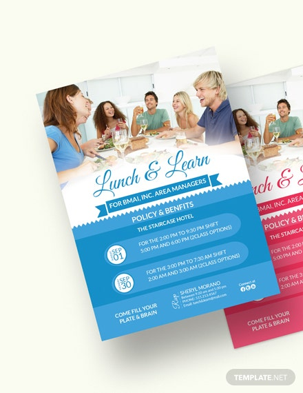 Sample Learn  Lunch Invitation Template