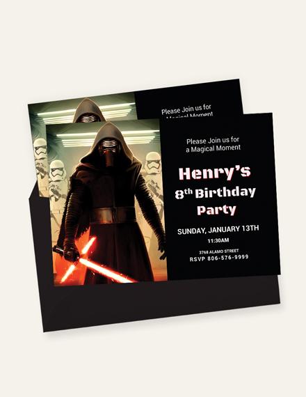 Lego Themed Star Wars Birthday Invitation  Download