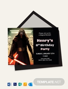 Lego Themed Star Wars Birthday Invitation Template