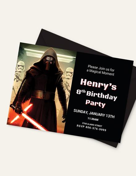 Sample Lego Themed Star Wars Birthday Invitation Template