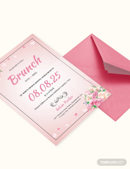 Lovely Bridal Lunch Invitation Template Download