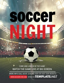 Free Soccer League Night Flyer Template