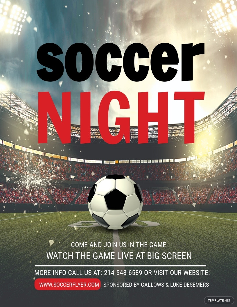 Soccer League Night Flyer Template