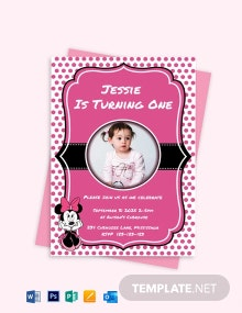 Memorable Minnie Mouse Birthday Invitation Template