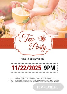 Modern Tea Party Invitation Template