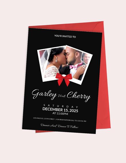 Modern Wedding Invitation Card Template Download