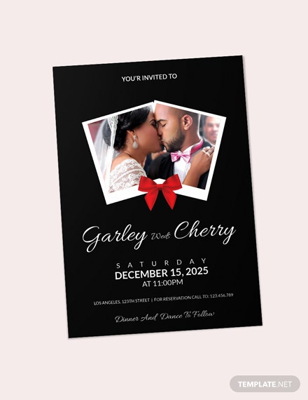Sample Modern Wedding Invitation Card Template